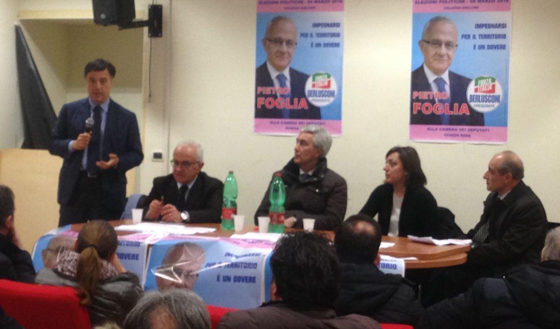Giuseppe Galati con gli altri candidati del Centrodestra